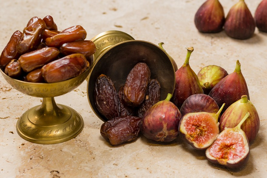 Medjool dates and figs are a good source of fiber