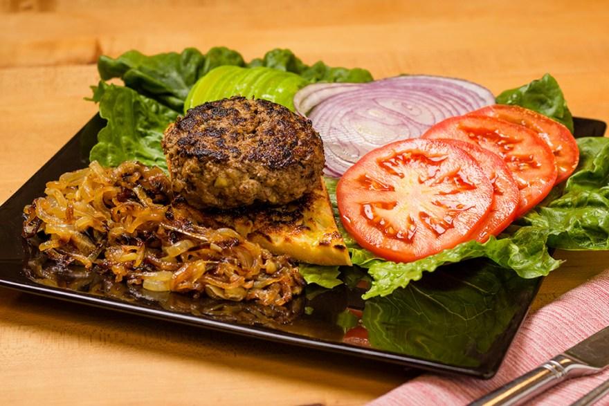 Open-Face Burger Deluxe