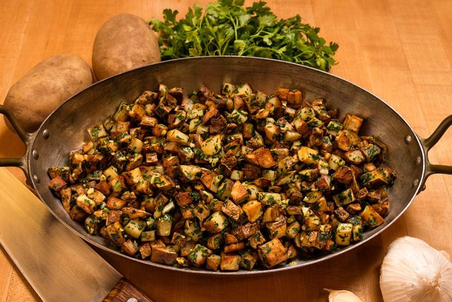 Sautéed Potatoes With Parsley & Garlic