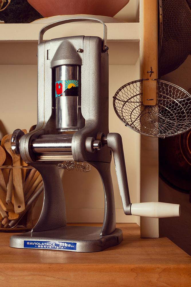 Vintage ravioli machine on the Food Over 50 set