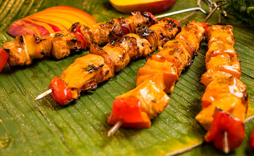 Mango Chicken Brochettes