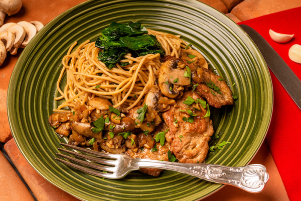 Pork marsala food over 50 style