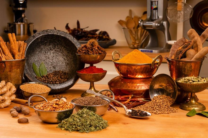 Spice arrangement on Food Over 50