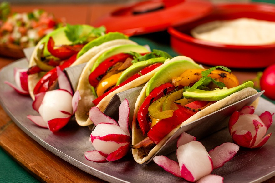 Reduced sodium beef fajita taco recipe as prepared by Food Over 50