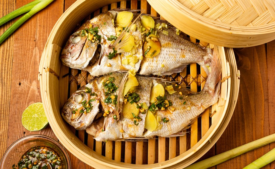 Steamed Snapper