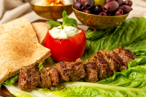 Minimizing meat with lamb kebob recipe as prepared by Food Over 50
