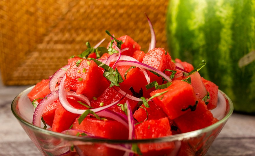 Sweet & Savory Watermelon Salad