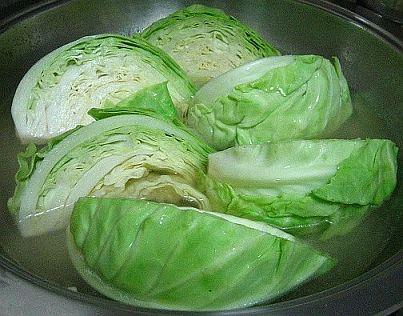 blanching-cabbage