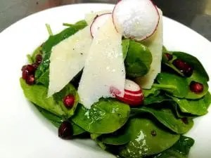 Baby spinach radicchio salad recipe