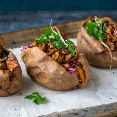 süßkartoffel gefüllt asiatisch vegan