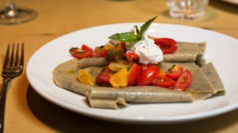 Eggplant Maltagliati Alla Nuova Checca Recipe