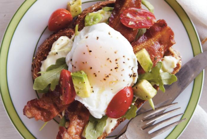 Eggs Benedict BLT With Avocado-Tomato Relish Recipe