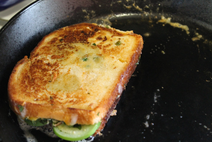 Building A Better Grilled Cheese: Smoky Jalapeño Grilled Cheese with Tomatillos