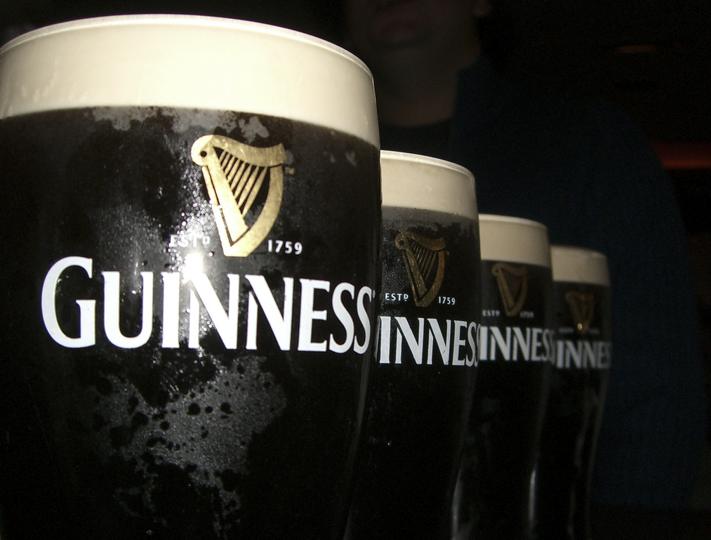 2 X NEW GUINNESS EXTRA COLD GLASSES
