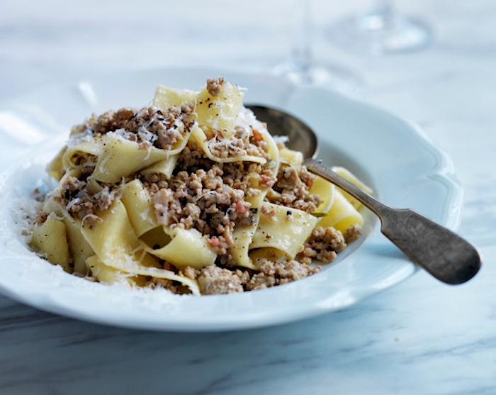 Andrew Carmellini S Pappardelle With White Bolognese Recipe Food Republic