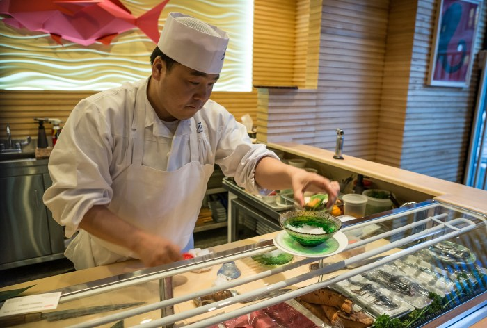 There's a careful thought process behind the progression of each of Chef Seki's omakase dinners.