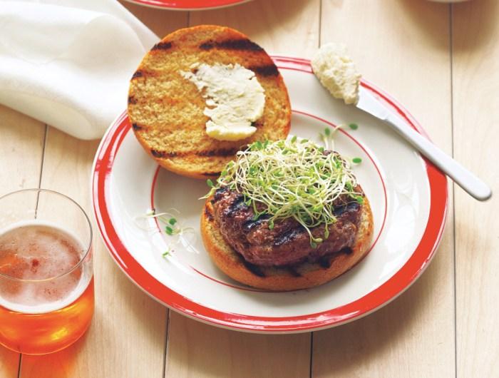 Beer And Bison Burgers Recipe
