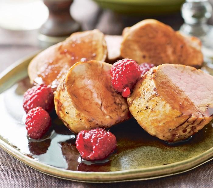Pork Tenderloin With Balsamic Raspberries Recipe