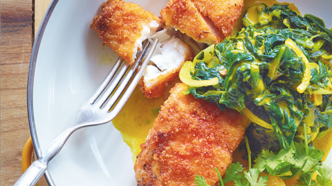 lentil-crusted fish recipe