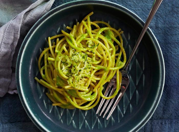 Add crispy zucchini to hot, cheesy pasta. (Photo: Lucy Schaeffer.)