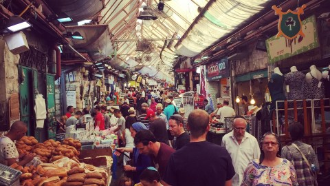A market in Tel Aviv. (Photo: Alon Shaya.)