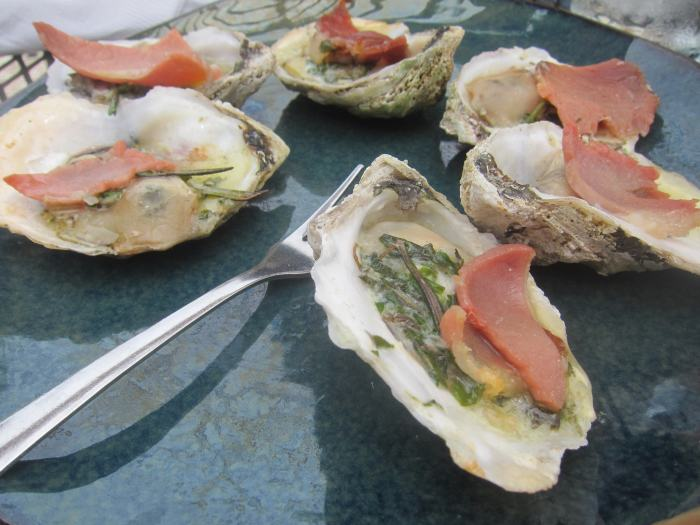 Edwards Country Ham and Rappahannock Oysters at Merrior