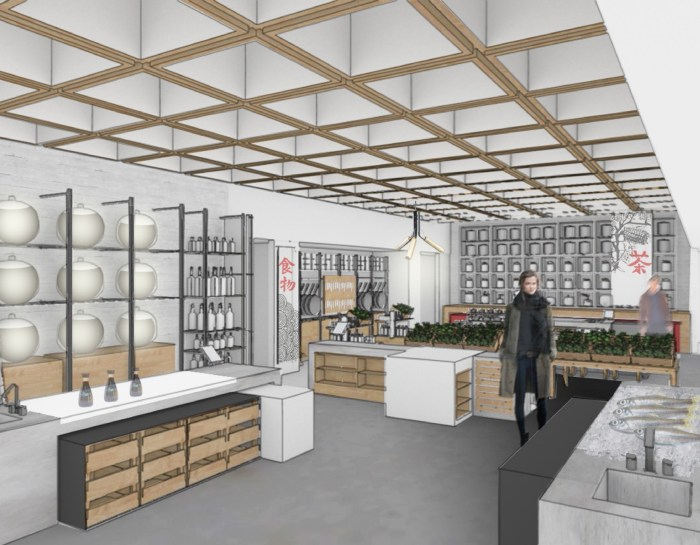 Retail space (Rendering: courtesy China Live)