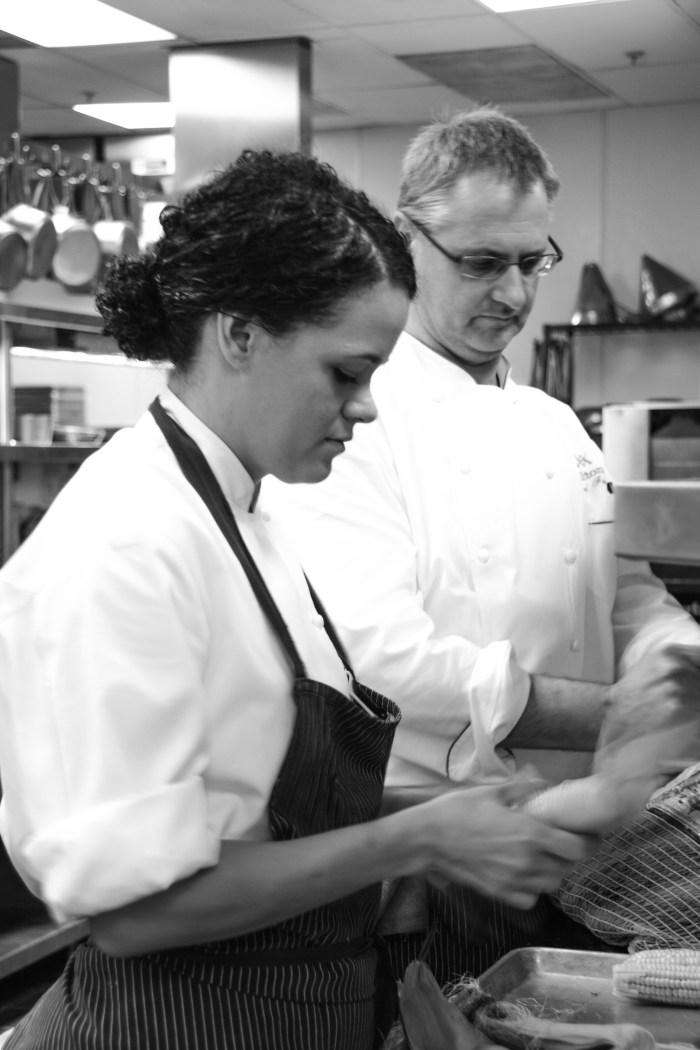 Chefs Borges (left) and Fieymer
