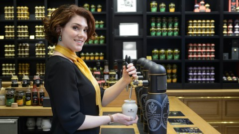 Pierette Huttner is Maille's very own mustard sommelier. (Photo: Maille.)