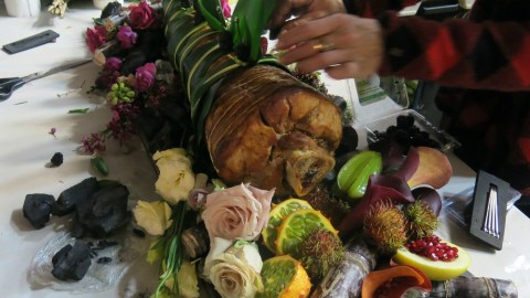"""Is that really Gillian Anderson's leg? No, but food stylist Janice Poon poured her heart into this final dish for NBC's """"Hannibal."""" (Photo courtesy of Janice Poon.)"""