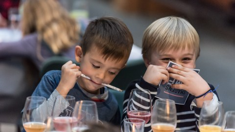 Kids are invited to dine at New York City's finest on April 26. (Photo: Martin Kaufmann.)