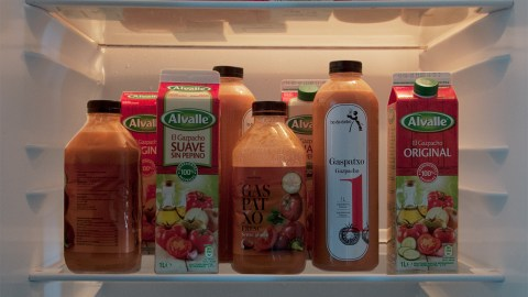 If you're in Spain and it's summer, your fridge is probably filled with gazpacho. (Photo: David Navas.)