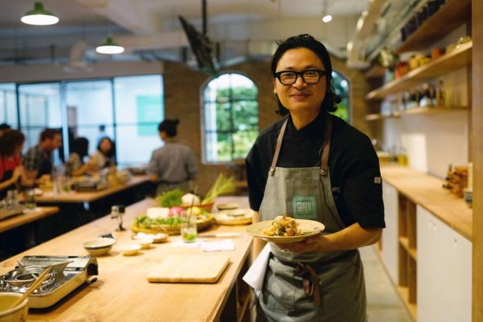 Chef Luke Nguyen at his restaurant, Grain, in Ho Chi Minh City.
