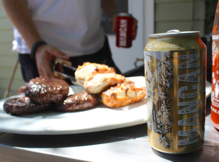 Get creative with your canned wine and grill with it.
