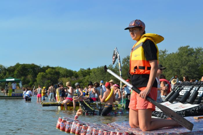 As many as 60 boats entered the event's first ever race.