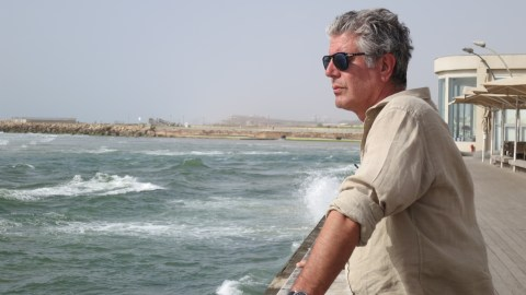 Anthony Bourdain's latest project has to do with food waste.