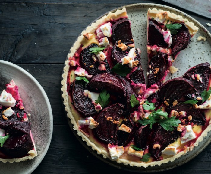 roast beet and feta tart recipe