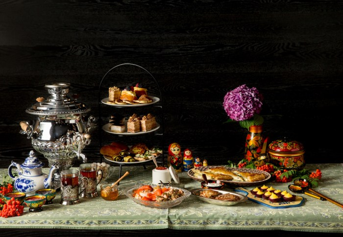 The newly-launched Russian Tea at Headwaters at the Heathman features traditional sweet and savory bites. (Photo credit: John Valls)