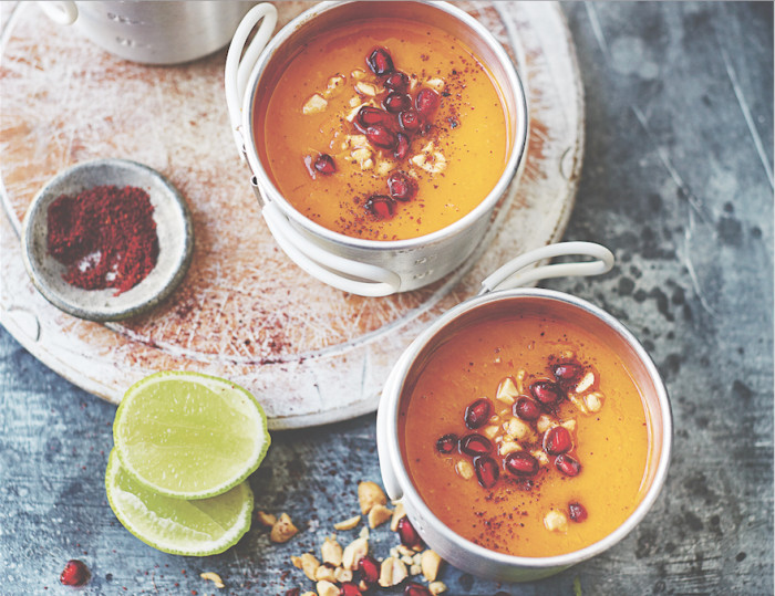 Sip On This Sweet Potato and Pomegranate Soup