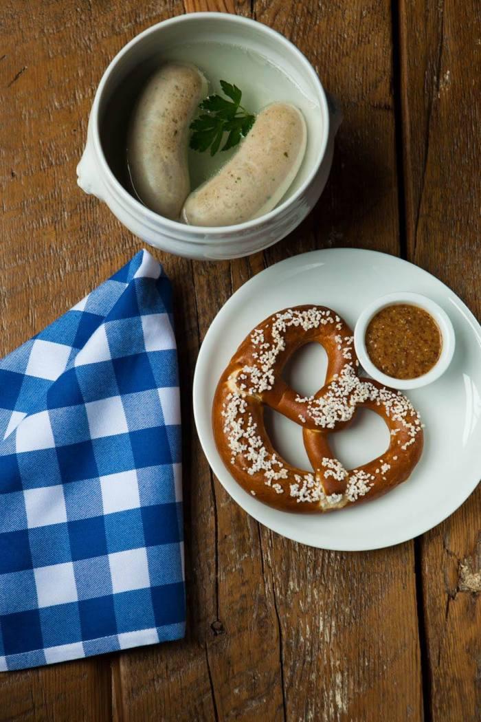 A classic Bavarian breakfast.