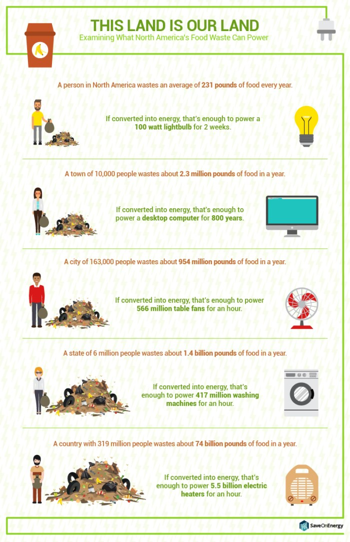 Power Using Food Waste
