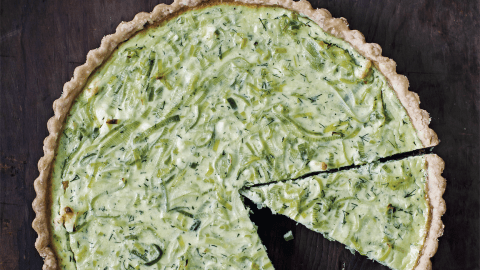 leek tart with feta