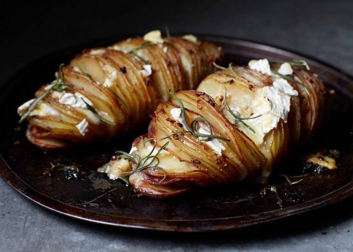 giant hasselback potatoes