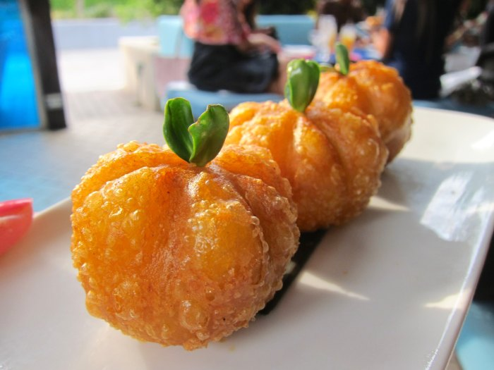 Roasted duck pumpkin puff is an example of how Yauatcha sets itself apart from other dim sum houses. (Photo: Mai Pham.)