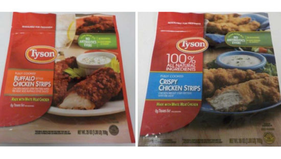 recalled Tyson chicken strips