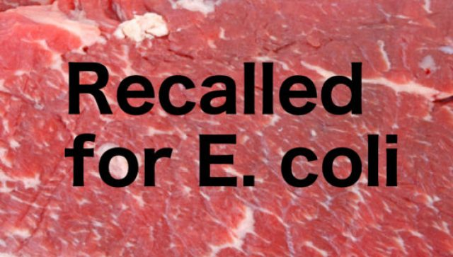 beef recalled for E. coli