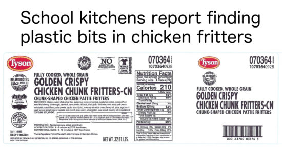 recalled Tyson chicken fritters nuggets label