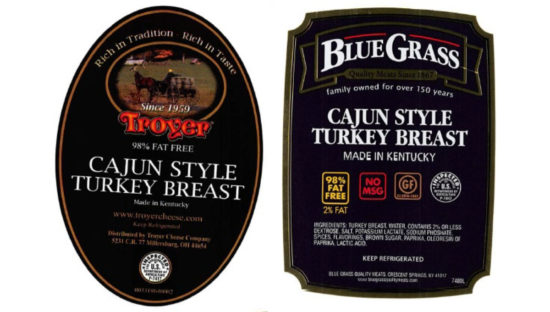 recalled Blue Grass turkey