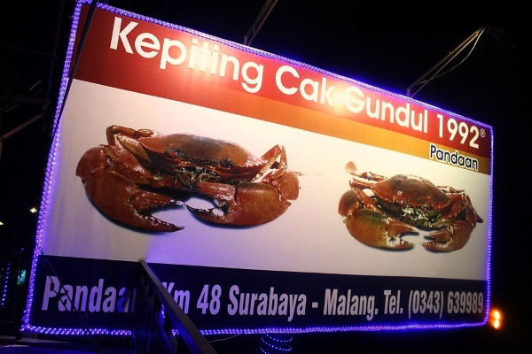 Kepiting Cak Gundul via travelingneverdies.com