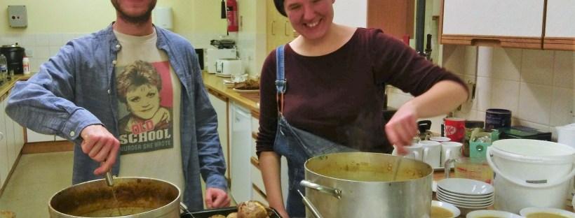 chefs serving soup